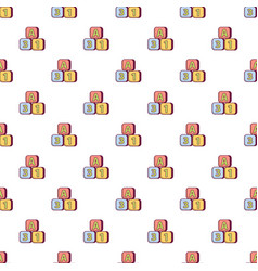 Bright colored bricks pattern seamless vector