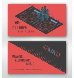 Business card for DJ vector image vector image