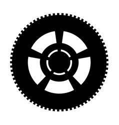 car wheel the black color icon vector image