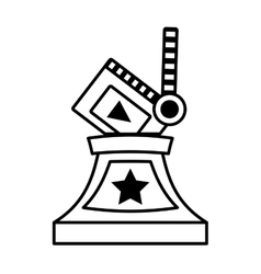 Clapper movie trophy awards outline vector