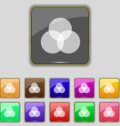 Color scheme icon sign Set with eleven colored vector image