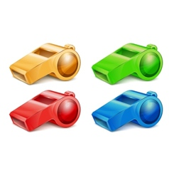 color whistles vector image vector image