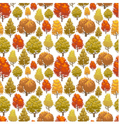 Colorful autumn forest seamless pattern design vector