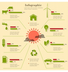 Eco infographic elements vector