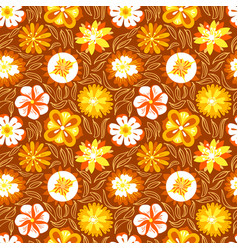 floral seamless pattern background with abstract vector image vector image