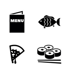 food simple related icons vector image