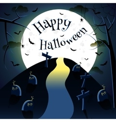 Happy halloween moon vector image