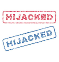 Hijacked textile stamps vector
