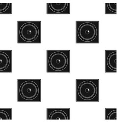 Load speaker icon in black style isolated on white vector