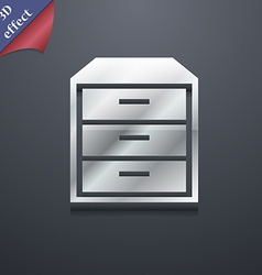 Nightstand icon symbol 3d style trendy modern vector