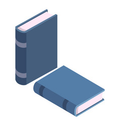pile of books standing in row and lying vector image