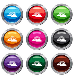 rainbow and clouds set 9 collection vector image