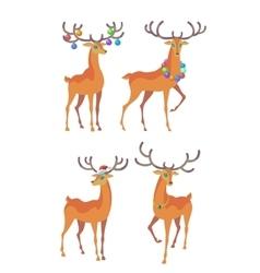 Reindeer Christmas icon Moving deer vector image vector image