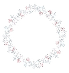 Round frame with different winter trees vector image