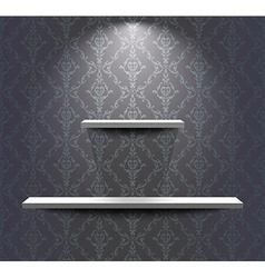 Shelves in the grey room vector