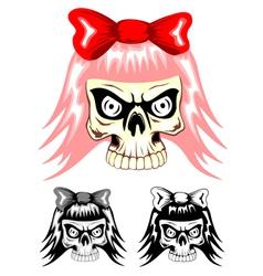 Skull emo dwa vector