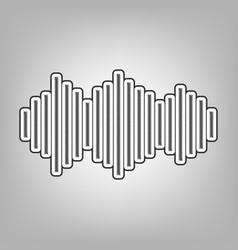 Sound waves icon pencil sketch imitation vector