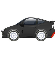 Sport car in black color vector