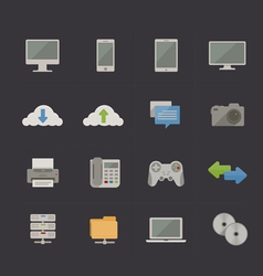 Tech and Communication Metro Retro icons vector image vector image