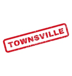 Townsville rubber stamp vector