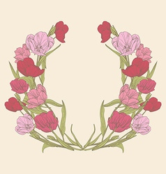 tulips floral card vector image