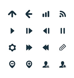 UI Outline For Web and Mobile icons set vector image vector image