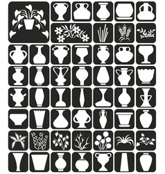 vase and flowers vector image vector image