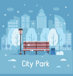 winter city park vector image vector image