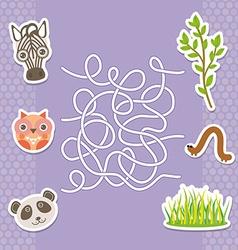 zebra panda owl labyrinth game for Preschool vector image vector image