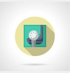 golfing flat round icon vector image