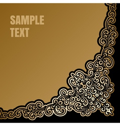 Gold corner background vector