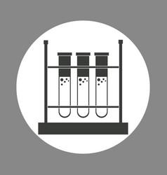 Laboratory test tube rack chemistry dark design vector