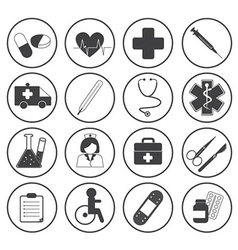 Basic medical icons collection vector