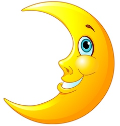 Smiling Moon vector image