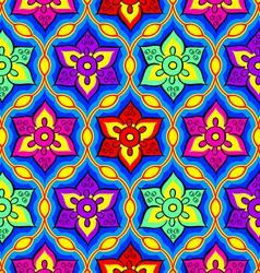 Rangoli seamless pattern vector image