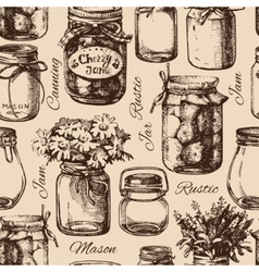 Rustic mason and canning jar vector