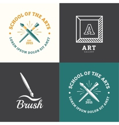 Brush logo vector