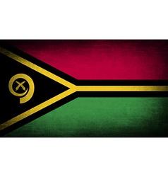 Flag of vanuatu with old texture vector