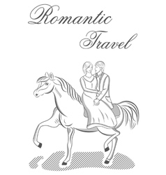 Romantic travel vector