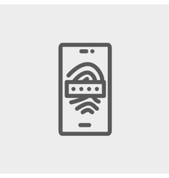 Mobile wifi thin line icon vector image