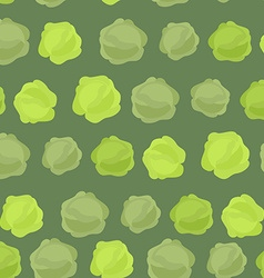 Background of green cabbage seamless pattern of vector