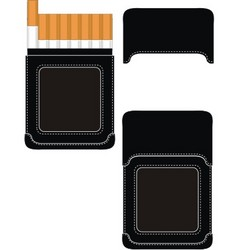 Cigarette case vector
