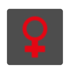 Female symbol rounded square button vector