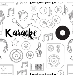 Theme of karaoke pattern vector image