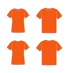 Orange short sleeve t-shirts templates vector