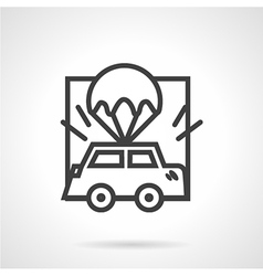 Abstract icon for car insurance vector