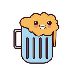 beer glass cup kawaii cute cartoon vector image vector image