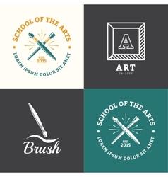 Brush logo vector image vector image