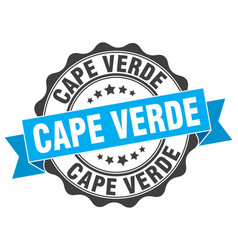 Cape verde round ribbon seal vector