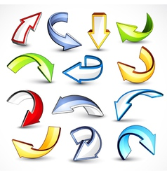 collection of colored arrows vector image vector image